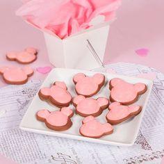 Valentine Mickey Meringue Cookies Dipped in Chocolate