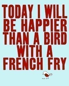 Bird with a french fry :)