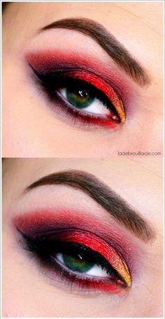 maquillage rouge smoky eye Tutoriel maquillage, tuto makeup #rouge #makeup #tutoriel #tuto #smokyeye