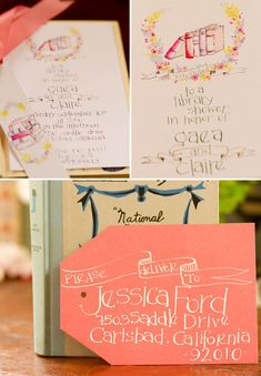 Beautiful Book Themed Baby Shower - possible theme if you want to stock up on books; I really liked the way she incorporated lines from kids books without it being too kidsy.