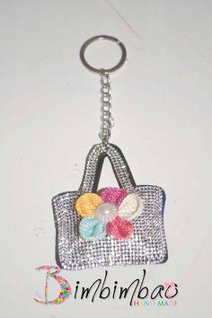 portachiavi donna accessori moda borsa borsetta strass ciondolo pendente chiave