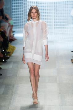 Lacoste Spring 2014 // Learn how to sew with sheer fabrics: http://www.universityoffashion.com/lessons/sheers-seam-finishes-compilation/