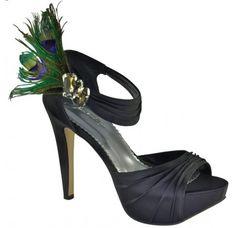 Johnathan Kayne Peacock Heels $120