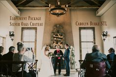 Silver Oaks Chateau has elopement packages. Marriage License, St Louis Mo, Wedding Officiant, Couples In Love, Ceremony Decorations, The St, Outdoor Ceremony, Got Married, Destination Wedding