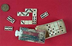 Toys of the 19th century   Dominoes made by Napoleonic prisoners of war