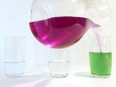 A mágica da água que muda de cor - Experiência de química