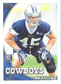2010 Topps NFL Football Card # 107 Sean Lee RC - Dallas Cowboys ( Rookie Card) NFL Trading Card in a Protective ScrewDown Case! by Topps. $3.95. 2010 Topps NFL Football Card # 107 Sean Lee RC - Dallas Cowboys ( Rookie Card) NFL Trading Card in a Protective ScrewDown Case!