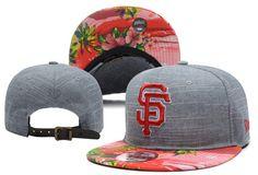 MLB San Francisco Giants Snapback Caps Strapback Hats Grey Plant Style Brim! Only $8.90USD