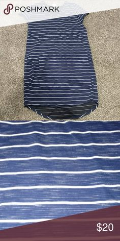 Worn once!  Navy and white ... high low hemline Classic colors and style Merona Dresses High Low