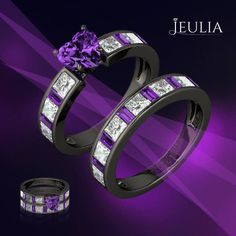 Amethyst is the birthstone for February and the traditional gift for the 6th and 17th wedding anniversaries. #jeulia #bridalset #fashionjewelry