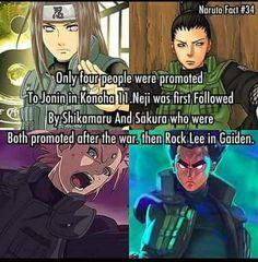Only Neji, Shikamaru, Sakura and Rock Lee became Jounins ❤️❤️❤️
