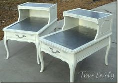 Many different furniture makeovers on this site with inspiration!! twicelovely.blogspot.com