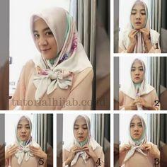 tutorial hijab pita di dada