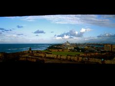 The view of San Juan from Fort Cristobal, Puerto Rico