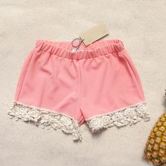 The cutest lace shorts...