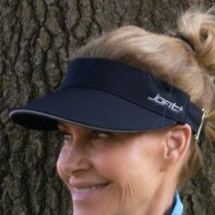 JoFit Ladies Golf/Tennis Jo Visors with Wide Brim - Black