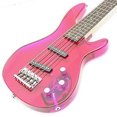 pink guitar for Mia to play with Uncle Chewy! Pink Love, Pretty In Pink, Pink Purple, Hot Pink, Blue, Music Guitar, Cool Guitar, Pink Guitar, Pink Music