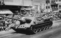 Victory parade after 1956 Suez Crisis in Israel.