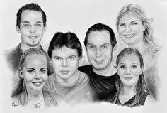 Portrét rodiny - kresba