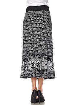 Lapis Printed Ladies Lazer Cut Stars and Border Print Skirt #skirts #women #womenskirts #fashion