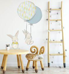 Naklejki ścienne króliczki i balony HIT - Paulina-Zielkiewicz - Naklejki na ścianę dla dzieci