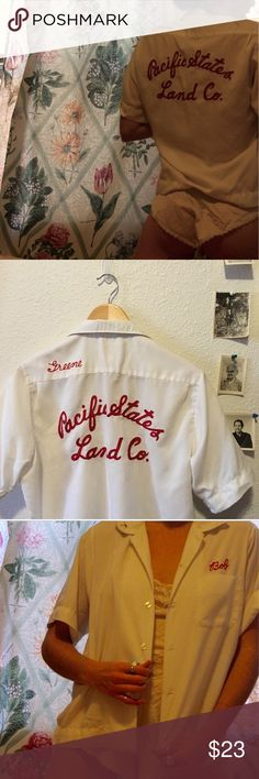 Vintage bowling shirt Vintage embroidered bowling shirt, unisex. Women's medium men's small.#vintageshirt #vintagebowlingshirt #bowling vintage Tops Tees - Short Sleeve