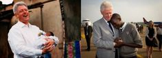 President Clinton reunites with 14-year-old Bill Clinton who was named after the President during his visit to Uganda