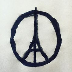The image started showing up on Facebook, Twitter, and Instagram within hours of the attacks in Paris: a simple, slightly off-kilter rendering of the Eiffe