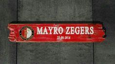 Geboortebord in Feyenoord stijl!