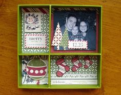 Christmas Shadow Box (Digital Doodles) - Two Peas in a Bucket