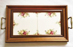 Tiled tray - Old Country Roses - Royal Albert