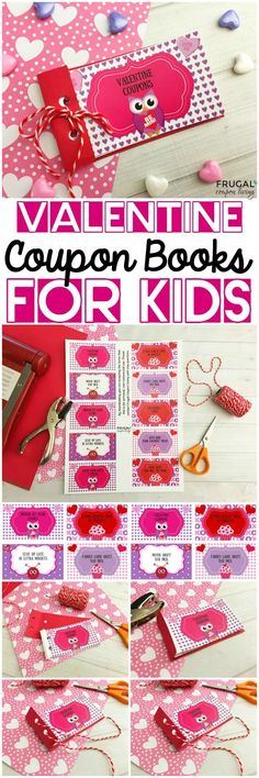 Kid and Teen Valentine Coupon Books on Frugal Coupon Living. Print your own valentine coupons for kids of all ages! Personalized gift idea for teens and kids this February 14th. Free Valentine Printable.