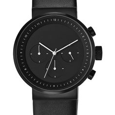 Projects Watches Kiura Black Leather Kol Saati - Taksitli Satın Al