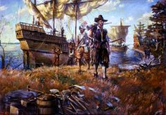 In 1607 100 men reached Virginia in the spring named it Jamestown in honor of their king.