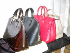 Louis Vuitton Alma handbags, Yves Saint Laurent Sac De Jour and Fendi Peek a Boo... some our bags to be rented on www.rentfashionbag.com only!