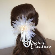 Bridal hair clipwomen hair clipwedding by MagaroCreations on Etsy