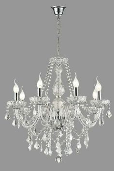 "New Authentic All Crystal Chandelier Lighting , 8 lights , FREE SHIPPING , H30"" X WD 28"" ceiling fixture pendant lamp New CHANDELIERS Milampus,http://www.amazon.com/dp/B00H90FK5E/ref=cm_sw_r_pi_dp_0RV2sb024K5N474F"