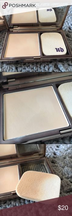 Urban Decay Naked Skin Powder Foundation This product has been gently swatched with the sponge applicator to test the color. The shade is medium light neutral. All items are 100% authentic. These items are shelf pulls discontinued or overstock items. Due to this there may be some slight retail packaging damage which I try to describe below & show in photos. All items are not sealed unless otherwise noted below. I try to describe accurately & provide photos of any retail damage. Urban Decay…