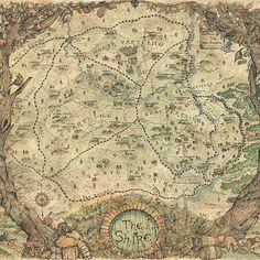 Hobbit Art, The Hobbit, Retorno A Brideshead, Tolkien Map, Middle Earth Books, Lotr Movies, Fantasy World Map, Planets Wallpaper, Earth Design