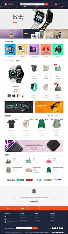 OneMall is clean and modern design 2in1 responsive #Prestashop #template for multipurpose #tech #shop eCommerce #website to live preview & download click on image or Visit