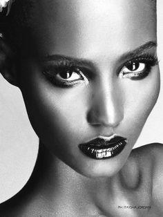 Fatima and her sad eyes Siad by Itaysha Jordan for Essence Hot Hair Issue, Fall 2011