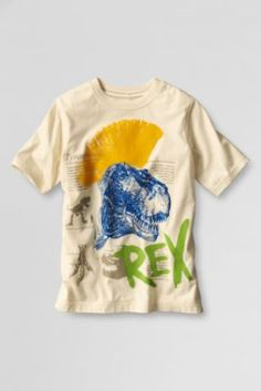 $7.97. Size L.Boys' Short Sleeve Rex Graphic T-shirt from Lands' End
