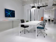 Linq Chair from Davis Furniture - shown with Span Table Davis Furniture, Contract Furniture, Industrial Furniture, Contemporary, Modern, Chair, Table, Inspiration, Design