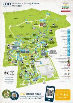 Edinburgh Zoo map