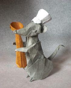 Origami Wet Fold Dreaming Dog Diagram