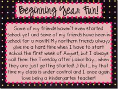 Beginning year fun from the kindergals