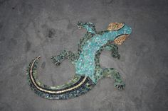 Mosaik-Gekko für die Wand