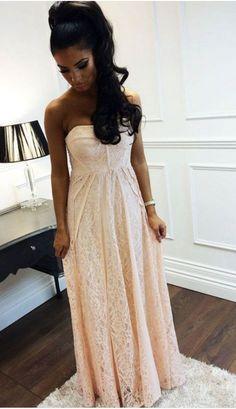 High Quality Prom Dress,A-Line Prom Dress,Strapless Prom Dress,Lace #prom #promdress #dress #eveningdress #evening #fashion #love #shopping #art #dress #women #mermaid #SEXY #SexyGirl #PromDresses