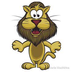 Cartoon pretty lion