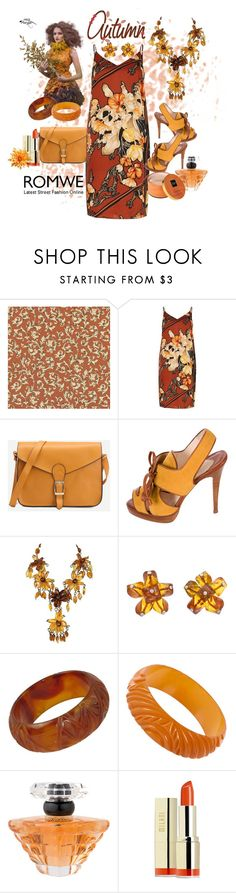 """Romwe Autumn Day"" by susan-993 ❤ liked on Polyvore featuring River Island, Christian Louboutin, Bottega Veneta, Lancôme and Milani"